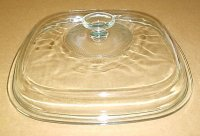 NEW Corning Ware Square Glass 2.5 & 5qt Casserole Lid Cover A12C