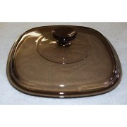 Corning Ware AMBER A9C Square Glass 2 & 3 qt Casserole Lid ONLY