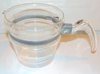 Pyrex Flameware 4 Cup Glass Milk Warmer Insert RARE
