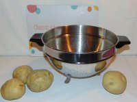 Vintage Lifetime 18-8 Stainless Footed Colander Pasta Strainer
