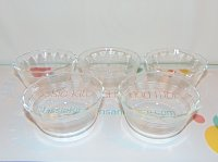 5 Vintage Corning Pyrex 6 oz Glass Egg Custard Cups 463 XC