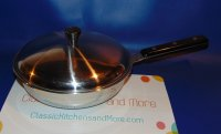 REFURBISHED Pluramelt Thermalloy Stainless 8in Pan Skillet w/lid