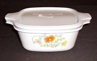 Corning Ware Wildflower Petite Pan 2.75 cup P-43-B NM w/ NEW Lid