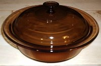 Corning USA Vision Amber 2.5 L Covered Round Casserole w/ Lid LN