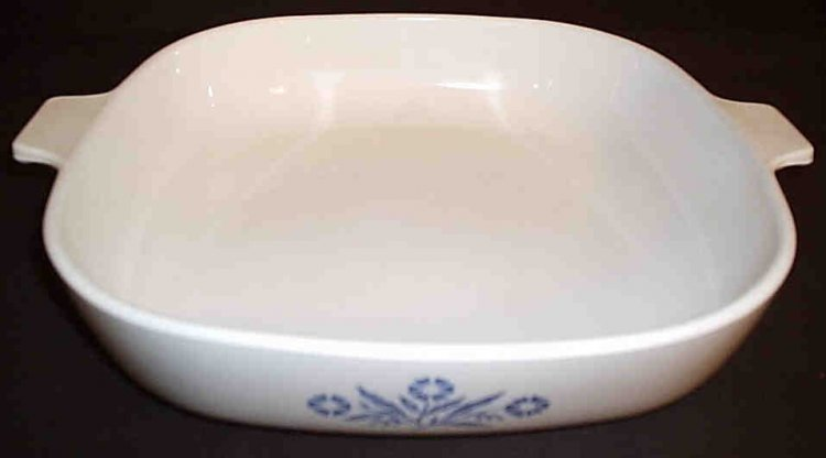Corning Ware Blue Cornflower P-10-B 10 Skillet Casserole NO Lid - Click Image to Close
