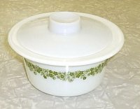 Corning Corelle Pyrex Spring Blossom Green Margarine Dish w/ Lid