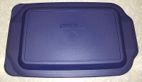 NEW Corning Pyrex 233 Roaster Pan Microwave Lid Storage Cover Bl