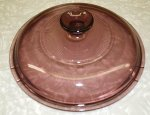 Corning Cranberry Vision 2.5L Saucepan Replacement Lid Cover NM