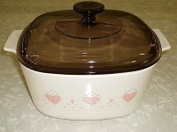 Corning Ware Forever Yours 3L Casserole Dutch Oven w/ Amber Lid