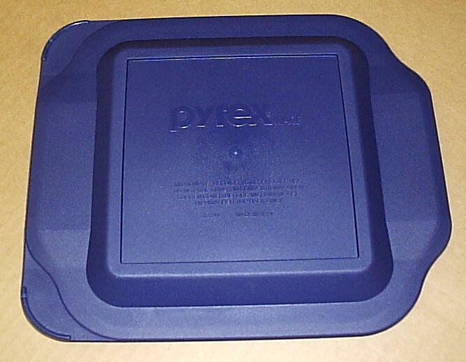 NEW Corning Pyrex 222 Sq Cake Pan Microwave Lid Storage Cover Bl - Click Image to Close