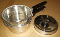 Refurbished Wards Stainless Steel 2Qt Saucepan Double Boiler Set