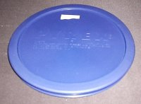 NEW Pyrex Mixing Bowl Plastic Rubber Storage Cover Lid 7402 BLUE