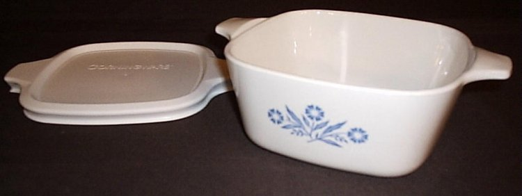 Corning Ware Blue Cornflower P-43-B Petite Mini Pan w/ NEW Lid - Click Image to Close