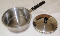 REFURBISHED Pluramelt Thermalloy Stainless 3 Qt Saucepan w/lid