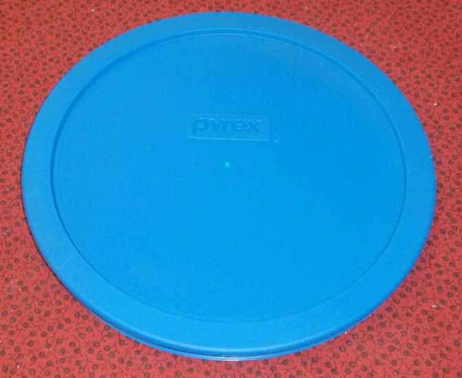 NEW Pyrex Mixing Bowl Plastic Rubber Storage Cover Lid 7402 TEAL - Click Image to Close