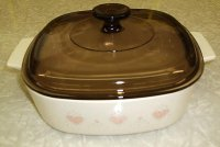 Corning Ware Forever Yours 2L Casserole w/ Amber Pyrex Lid RARE