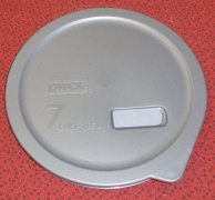 NEW Pyrex Storage Plus NO LEAK Rubber Storage Cover Lid 7203 Gry