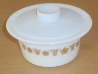 Corning Corelle Pyrex Golden Butterfly Margarine Dish w/ Lid