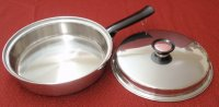 REFURBISHED Duncan Hines 3 Ply Stainless Steel 10 Skillet w/Lid
