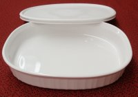 Corning Ware French White 1.8L Oval Casserole Roaster w/NEW Lid