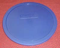 Pyrex 325 Clear Bottom Mixing Bowl Storage Cover Lid 2.5 qt BLUE
