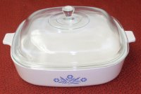 Corning Ware Cookmates Cornflower Casserole Skillet w/ Lid SK10