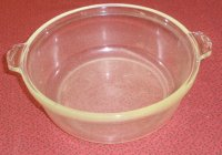 Vintage EARLY Pyrex Glass Casserole 2 qt 024 624 NO LID