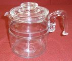 Pyrex Flameware 6 Cup Glass Coffee Maker Percolator Pot ONLY XC