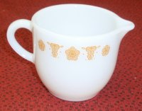 Corning Corelle Pyrex Tableware Butterfly Gold Cream Pitcher NM