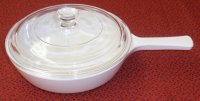 Corning Ware Frost White Mini Skillet Saute Frying Pan w/Lid XC