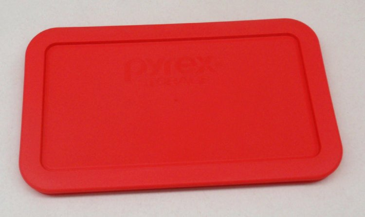 NEW Pyrex 7214 Dish Microwave Safe Storage Lid Cover RED - Click Image to Close
