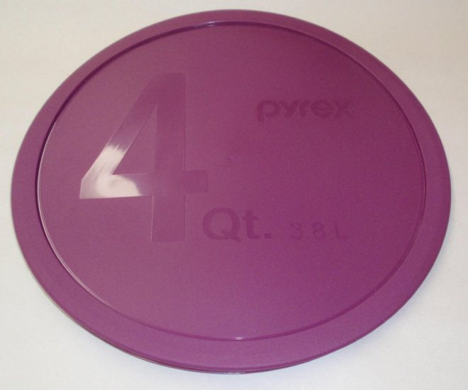 Pyrex 326 Clear Bottom Mixing Bowl Storage Cover 4qt/Lt NEW PLUM - Click Image to Close