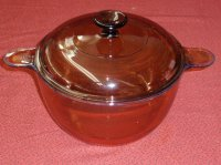 Corning Amber Vision 3.5 L Dutch Oven Stock Pot Casserole w/ Lid