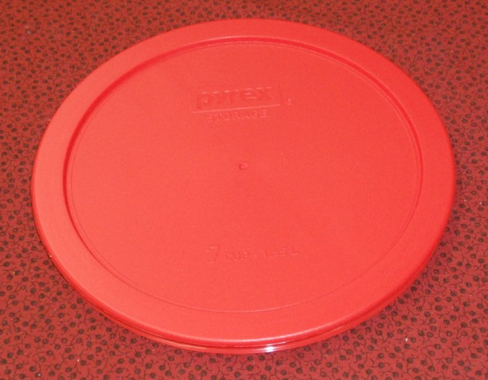 NEW Pyrex Mixing Bowl Plastic Rubber Storage Cover Lid 7402 RED - Click Image to Close