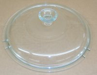 Corning Ware Pyrex Visions Skillet CLEAR GLASS V12C Lid NEW