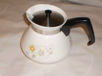 Corning Ware Floral Bouquet 6 Cup Tea Pot w/ Stainless Steel Lid