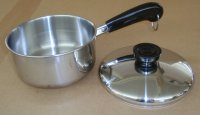 REFURBISHED Revere Ware Tri Ply 1 QT Covered Saucepan w/ Lid USA
