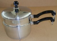 REFURBISHED Farberware USA 2qt Saucepan Double Boiler Set w/ Lid