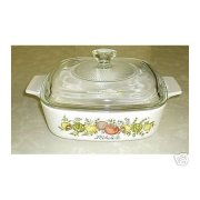 Corning Ware Spice O' Life 1 quart Casserole Skillet w/ NEW Lid