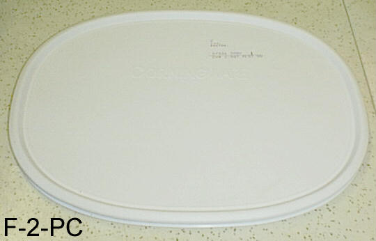 NEW Corning Ware F-2 F-6 French White Oval Plastic Storage Lid - Click Image to Close