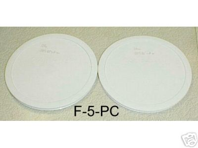 NEW Corning Ware French White F-5-PC Microwave Safe Lids Covers - Click Image to Close