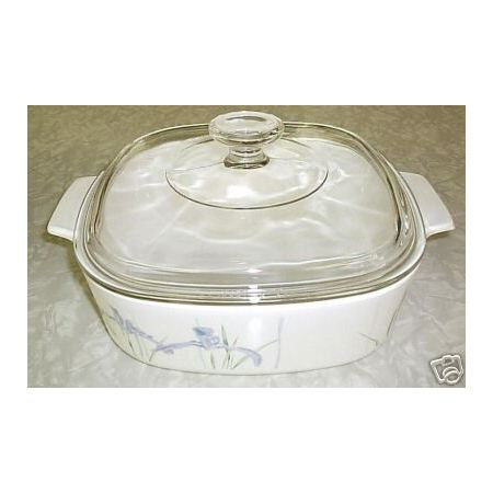 Corning Ware Shadow Iris 2 Liter A2B Casserole Skillet w/ Lid NM - Click Image to Close