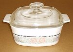Corning Ware Silk & Roses 1.5 Liter Casserole w/ Pyrex Lid NM